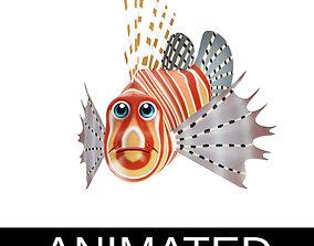 3D model Lion Animated Fish Toon
