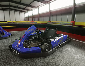 Gokart Track with Car 3D model