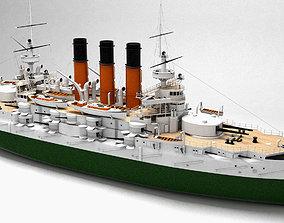 3D model battleship of the Russian fleet Retvizan