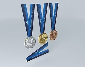 3D model Vancouver 2010 Olympic Medals