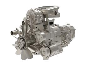 3D model Wankel Engine