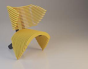 Parametric Plastic Chair 3D model