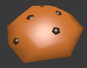 Low Poly Cookie 3D asset