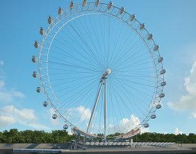 London Eye architecture 3D model