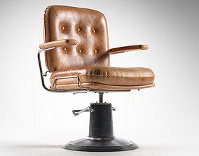 Vintage Barber Chair 3D model