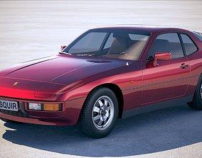 3D model Porsche 924 1976-1988