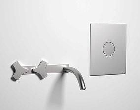 3D faucet ZIQ01 Tap and PLA10 Flush Button