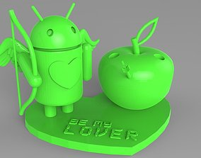 3D printable model AndroIOS Love Pencil Stand