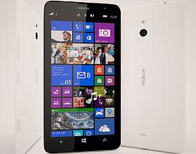 3D model Nokia Lumia 1320 White