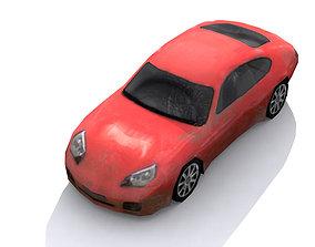 3D asset of Lowpoly car