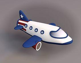 cloud Cartoon Airplane 3D model