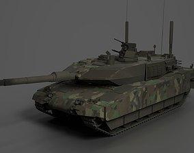 3D asset Tank Leopard 2A5 Amored
