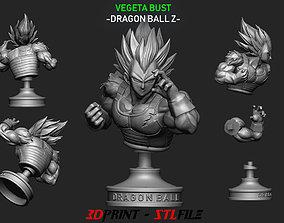 Vegeta Bust - dragonball Z 3D print model