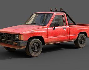 3D model Toyota Hilux 1983-1988 pickup Game