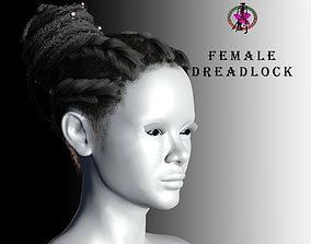 Female Dreadlock 3D asset