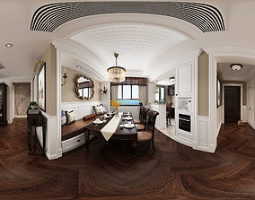 3D Living c American Style Living Room Restaurant Space 38