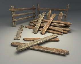 Planks and Fences Pack 3D model