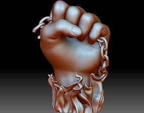 BLM sign hand logo fist STL file 3D printable model 1