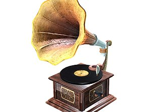 3D model game-ready Gramophone