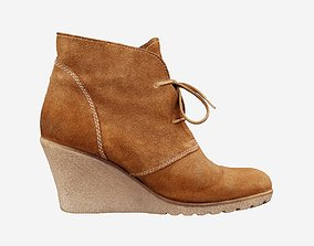 Brown Sleeve Boots 3D asset