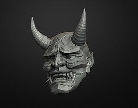 Traditional Japanese Hannya Mask Oni 3D printable model 2