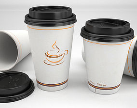 3D Paper cup coffee