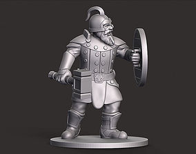 3D print model Dwarf Warrior Miniature