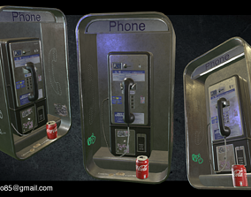3D model Payphone - AAA Game Ready
