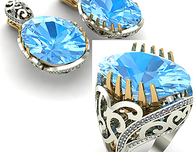 3D model WOMAN SET RING AND EARRINGS