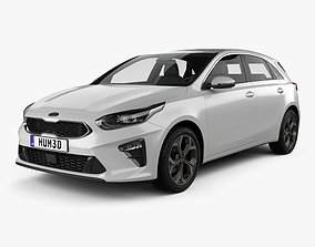 Kia Ceed hatchback 2018 3D model