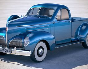3D model Studebaker Coupe Express Pickup 1939