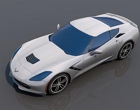 3D asset low-poly Chevrolet Corvette C7