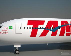 TAM Airlines 777 300 ER 3D