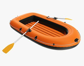Boat inflatable 04 3D model