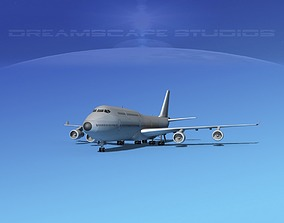 Boeing 747-8I Bare Metal 3D