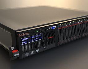 Rack server unit datacenter 3D