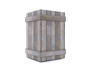 Old Wooden Box Property 3D model