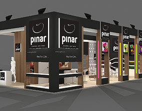Exhibition Stand - ST0022 3D