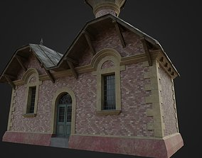 3D asset game-ready Old Hungarian Water Tower