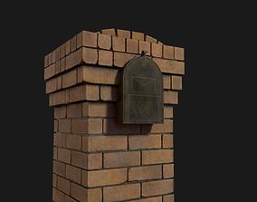 3D model Brick Mailbox