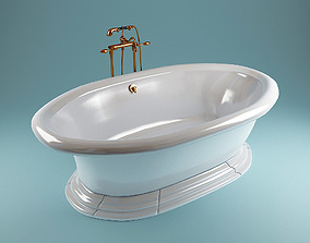 3D model Kohler vintage bathtube