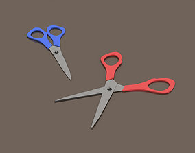 3D asset Red and Blue Scissors