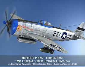 Republic P-47D Thunderbolt - Miss Caesar 3D
