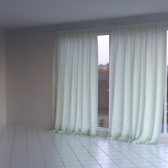 My generic curtains testing scene
