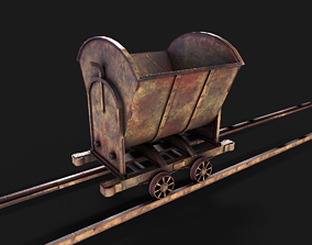 3D model Minecart