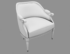 interior wood Armchair UP 3D model
