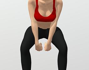 3D model Rigged fitness girl