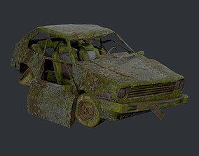 3D asset Apocalyptic Damaged Destroyed Vehicle Car 2