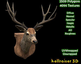 3D asset Deer Head - Textured