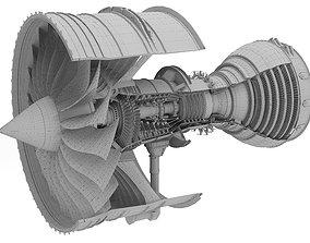 3D model Rolls-Royce Trent 1000 Turbofan Engine
